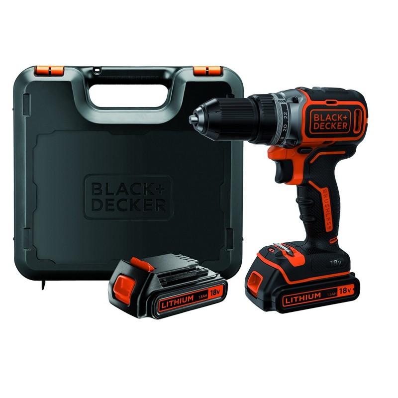 Bl188kb qw black decker trapano 2 batterie bruslhess in for Avvitatore parkside 18v