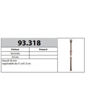 MOTTURA 93.318 ASTA REGISTRABILE PER INSERIMENTO ASTABLOCK MOTTURA