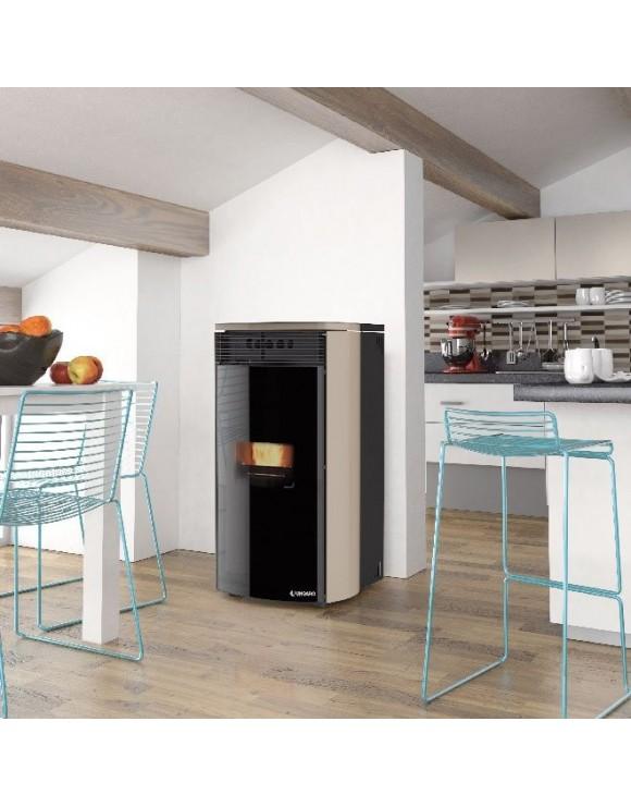 Maia f style 6 24 termostufa idro ungaro a modulazione di combustione - Termostufa a pellet palazzetti ...