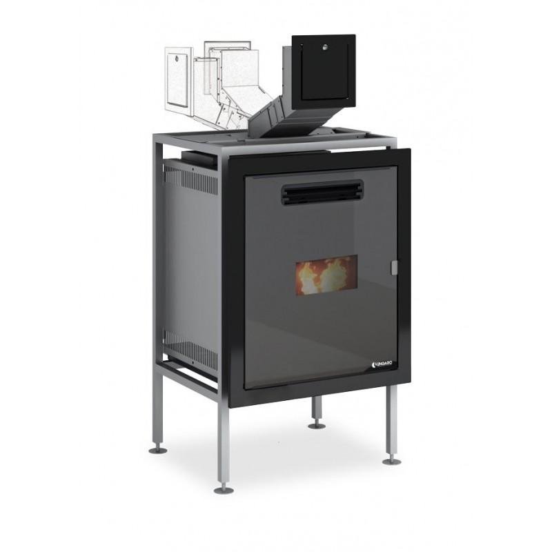 Yncas 6 24 inserto idro ungaro a modulazione di combustione for Termocamino a pellet idro